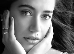 MAITE PORTRAIT BW (mauricio cevallos www.mauriciocevallos.com) Tags: blackandwhite bw cute girl pretty gorgeous fz30 chercherlafemme
