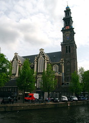 westerkerk (Sean Munson) Tags: church netherlands amsterdam canal europe prinsengracht protestant jordaan prinsengrachtcanal westerkerk hendrickdekeyser dopplr:trip=181891 dopplr:explore=z3e1