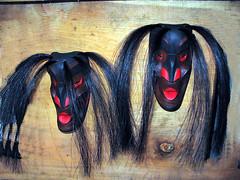 wild women of the woods (tsonoqua) (axiepics) Tags: black woods women masks utata spirituality robertson wildwomen 1gw 3waychallenge 3waychallengewinner artrobertson 3ycwinner gameswinner ©copyrightalexskellyallrightsreserved