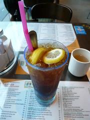 3日目昼食(檸檬茶) in 港湾茶餐廳(湾仔)
