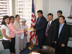 Visit to Feinstein's Office on Immigration Reform 5-25-07 (1)