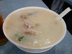 4日目朝食(魚雲粥)