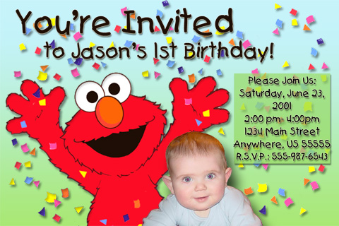 Free Elmo Birthday Party Invitations
