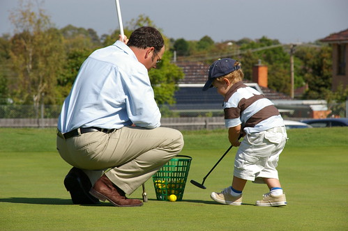 Golf Lesson with Dad