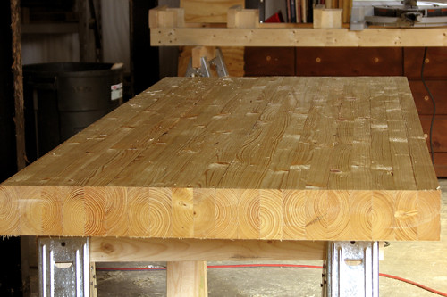 Rough benchtop after glue-up
