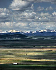 Kenosha Pass (Rebecca Lehmann) Tags: ranch mountains landscape rockies colorado scenic snowcapped valley rockymountains peaks kenoshapass