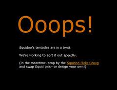 Squidoo Website Error Message