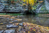 Autumn at Pewit's Nest (Paul Domsten) Tags: pewitsnest baraboo wisconsin landscape water stream tree pentax rokinon cliff creek beauty surreal autumn fall colors leaves