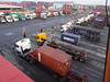 Load and discharge (stevenbrandist) Tags: portofliverpool containerterminal truck merseyside straddlecarrier