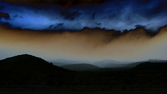 Patagonia Sky (Bhlubarber) Tags: sunset sky patagonia mountain storm argentina weather silhouette clouds dusk rionegro fav5 conosur sietelagos colorphotoaward davidniddrie lpblue