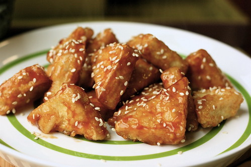 ... sweet and sour chicken i sweet and sour tofu orange flavored fried