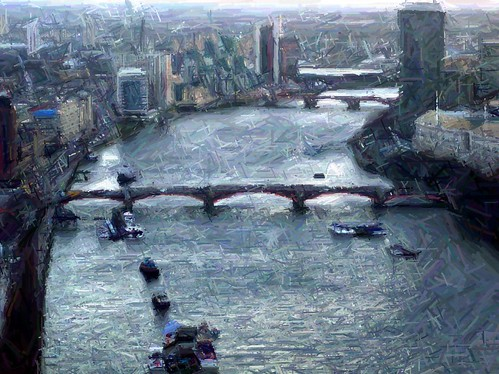 colored pencil the thames