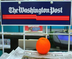 Un puesto del Washington Post