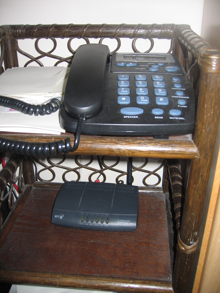 Our home wireless router and VoIP phone