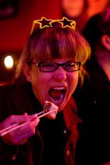 Mmm Sush (Airchinapilot) Tags: canada vancouver sushi chopsticks spectacles vandigicam seawallrunner jensbirthdaybash party