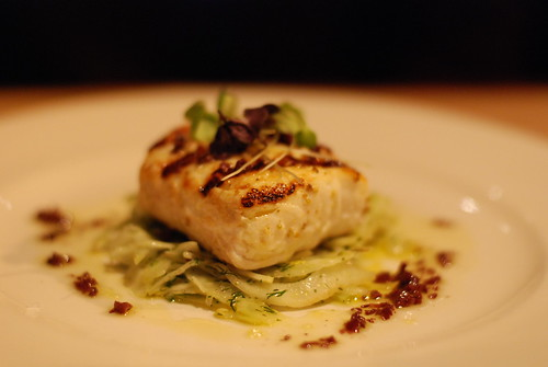 Osteria's Wood Grilled Halibut with Marinated Fennel