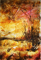 Abstract Art Watercolor - Quinacridone Day (Jose F. Sosa) Tags: original abstract art modern watercolor artwork paint artist expression abstractart contemporary fine paintings drawings canvas mexican american expressionism expressionist abstraction form shape impression selective abstractions abstracted awardtree josefsosa