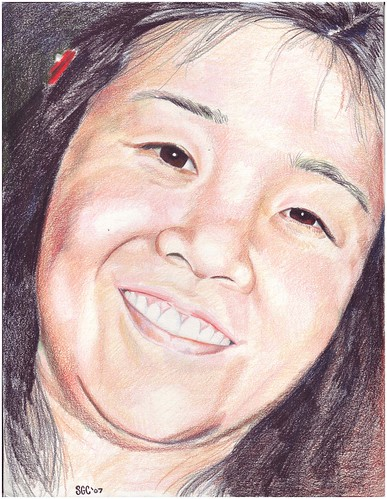 Colored pencil drawing entitled Cindy