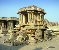 Chariot of the Gods (Kanad Sanyal) Tags: india heritage history site ruins god indian unesco gods contraption karnataka civilisation chariot rath hampi celestial ratha vijaynagar humpi