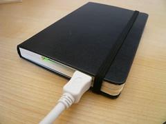 Moleskin Notesbook Harddrive enclosure