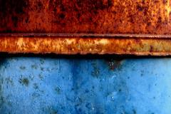 rustbelt (nolando) Tags: blue color colour metal digital canon rust details rusty minimal crop rusted simple 2007 nolando