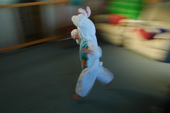 Run! (gemsling) Tags: motion bunny girl easter running panning jesara easter2007