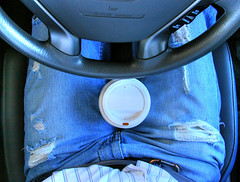 drive with hot coffee between your legs