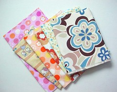 Fabrics Sent to ::PlurBPlur:: (Warm 'n Fuzzy) Tags: flowers pastel fabric swaps cutefabric kawaiiprint fabricswaps