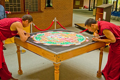Tibetan Mandala Sand Painting (MattPenning) Tags: art monk buddhism mandala potd demonstration monks tibetan meditation enlightenment sandpainting vajrayana pentaxk10d tibetmonkmandala