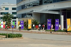 Y! Place (Premshree Pillai) Tags: india yahoo office bangalore egl newoffice yspace inaugration
