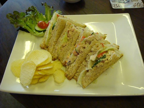 Super sandwich from Living Room Cafe, Chiang Mai.