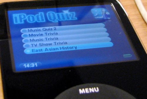 iQuiz: Create quizes for video iPods