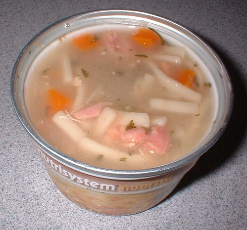 NutriSystem Chicken Noodle Soup lunch