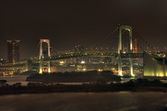Rainbow bridge (NavindaK) Tags: bridge japan night tokyo rainbow nightlights citylights odaiba hdr tokyobay rainbowbridge tokyobynight slpweekendchallengewinner