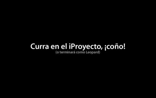 Fondo de escritorio de Curra en el iProyecto, ¡coño!