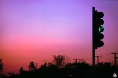 Green Light (i ea sars) Tags: street city morning trees light sunset sky urban usa naturaleza chicago nature silhouette night america sunrise canon contraluz skyscape landscape dawn lights evening calle illinois zonsondergang streetlight midwest scenery afternoon sonnenuntergang dof purple dusk natur ciudad cielo 5d canon5d rua stoplight priroda  70200mm puestadelsol   zapad proda slunce canoneos5d obloha 70200l 70200is canonef70200mmf28lisusm