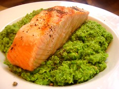 Seared Salmon & Pea Puree