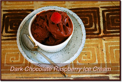 Dark Rich and Fruity (MeetaK) Tags: food recipe dessert photography chocolate diary rich icecream raspberry scoop creamy foodblog davidlebovitz meetaa nikondo70s