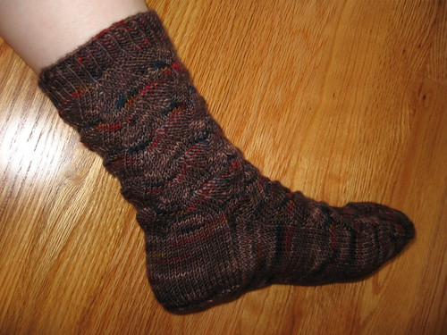 Monkey socks one modeled