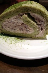 green tea and red bean mascarpone tiramisu