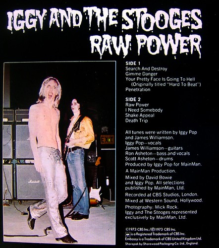 Iggy And The Stooges Raw Power A Photo On Flickriver