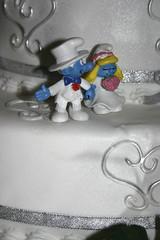 Smurftastic! (erinjaneyates) Tags: wedding cake groom bride carousel smurf smurfs geelong