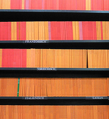 Book Shop (svenwerk) Tags: red orange berlin colors germany buch book libro books libros bookshop bcher librera buchhandlung