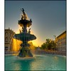 Sunny Showers (sunsurfr) Tags: water fountain architecture sunrise downtown roundabout structure montgomery d200 dexter hdr courtsquare nikonstunninggallery anawesomeshot superaplus aplusphoto sunsurfr
