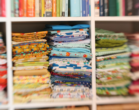 fabric  + books