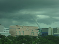 Rare twister seen off East Coast Park, Singapore