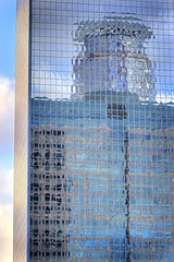 manifestation (mosippy) Tags: blue reflection building glass minnesota architecture skyscraper minneapolis bluesky twincities hdr glassbuilding downtownminneapolis canonef70200mmf4lusm