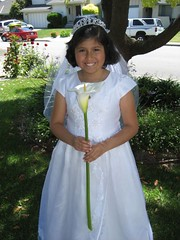 Anna all decked out for her First Communion. (5/5/07)
