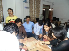 Participants Making a Constellatiion Model