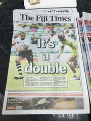 While i was in Fiji there was Rugby matches on every day!
